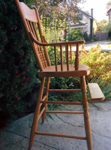 Antique Press Back Toddler Chair