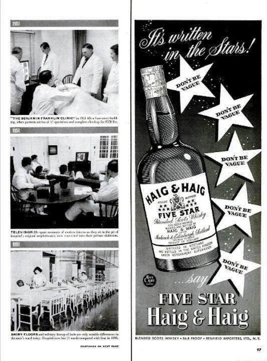 1951 Haig & Haig PRINT AD Scots Whisky