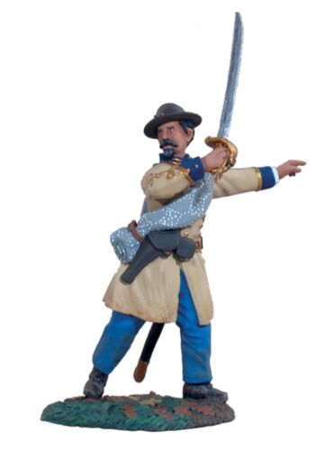 BRITAINS CIVIL WAR CONFEDERATE 31013 CONFEDERATE INFANTRY OFFICER ADVANCING MIB