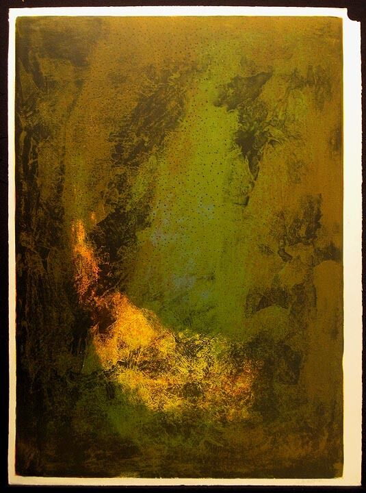 "Le Ba Dang ""nature Prays Without Words"" 1 Piece From Suite, Signed Fine Art Obo"