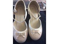 Girls ivory shoes