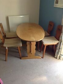 Dining Table & 4 Chairs - unusual design