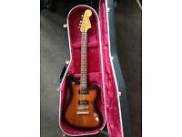 Fender Jaguar modern player mint condition with hiscox case . Beautiful jazz guitar with hard case