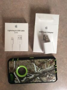 IPhone 6/6s Camo Style Case w/ 2m Cable & Power Adapter