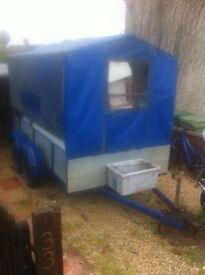 Twin axel, Large Trailer,