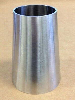 3.0 X 2.0 Sanitary Concentric Reducer T304 Stainless Steel Weld End Fitting