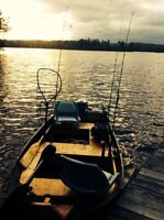 """12"""" aluminum boat and 15 hp outboard"""