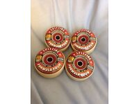 Spitfire Formula-four 52mm 101du wheels with bone reds. Used once.