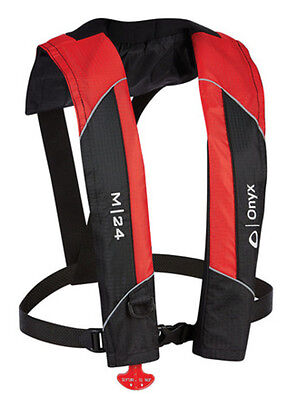Onyx Manual Inflatable Life Jacket Vest - Red - Includes CO2