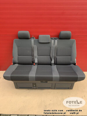 Bench rear triple seat VW T5 T6 Multivan Caravelle TEAM