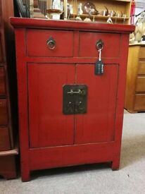 Antique Chinese cabinet with two drawers