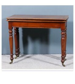 Victorian walnut card table