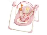 Bright Starts Comfort & Harmony Girafaloo Portable Baby Bouncer Swing