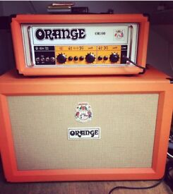 Orange OR100 and closed back cab