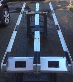 Aluminium van ladder roof rack