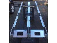 Aluminium van ladder roof rack