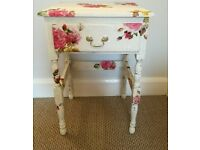 Fabulously floral side table