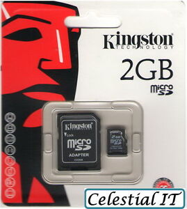 GENUINE KINGSTON 2GB MICRO SD SECURE DIGITAL CARD