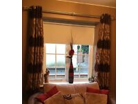 Fully lined eyelet hole curtains (4 pair set)