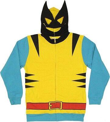 Wolverine Mask (Wolverine Costume With Mask X-Men Avengers Marvel Zip Up)