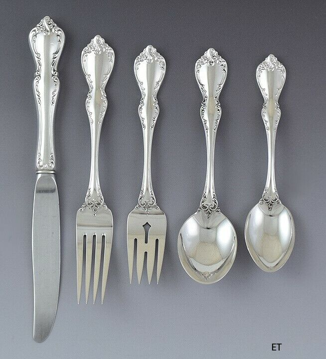 20pc Dinner Service for 4 Sterling Silver Towle Debussy Flatware Set NO MONOS