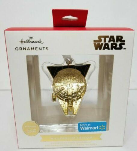 2021 HALLMARK Star Wars Gold Millennium Falcon Premium Ornament - New