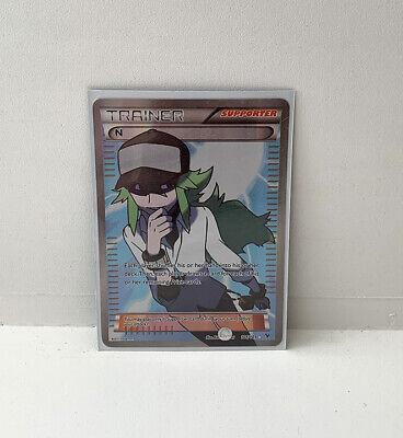 N Trainer Full Art Ultra Holo Rare Pokemon TCG BW Noble Victories 101/101 NM!