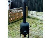 Outdoor wood burner heater/chiminea