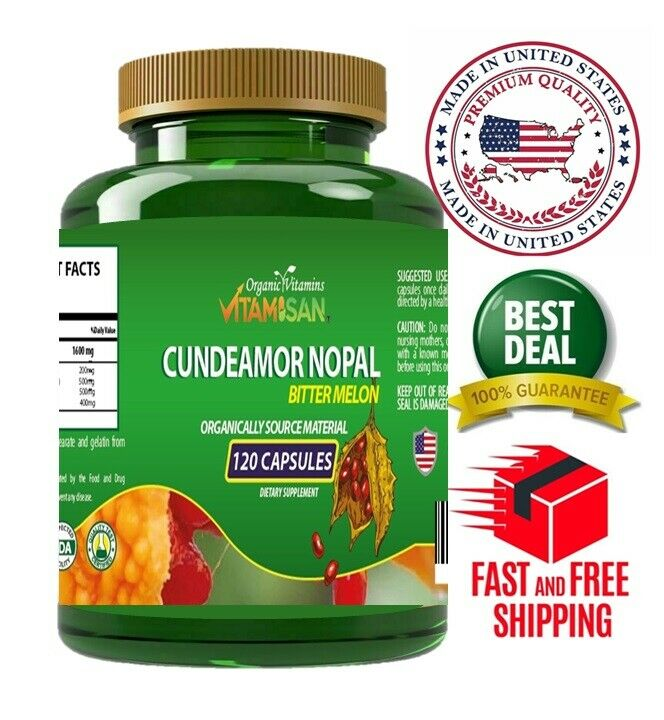 Capsulas de Nopal CUNDEAMOR  2 frascos con 120 capsulas c/u. Regula el Azucar. 1