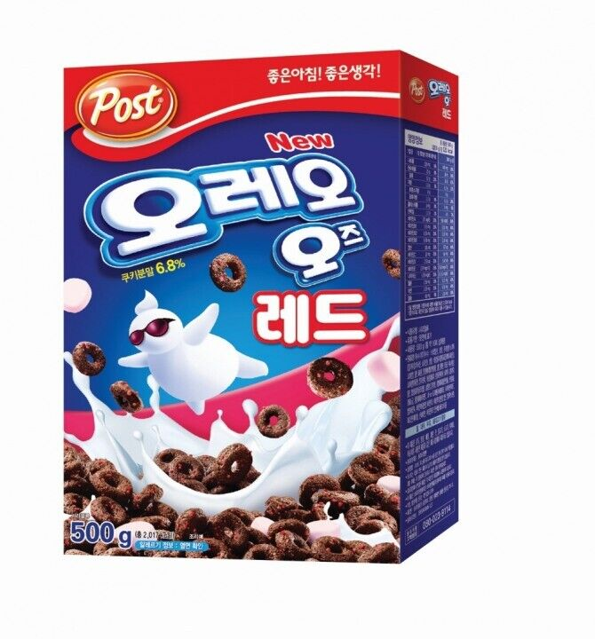 Red Oreo O's POST Cereal Strawberry Flavor Chocolate