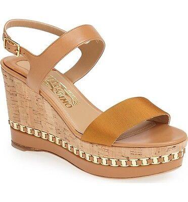 Salvatore Ferragamo Mollie' Wedge Sandal Size 7 B