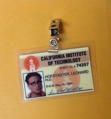 The Big Bang Theory Id Badge-Leonard Hofstadter Requisite Kostüm Cosplay