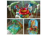 Jumper bundle Fisher price bouncer and playmat