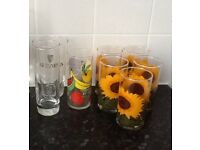 8 drinking glasses VGC £3