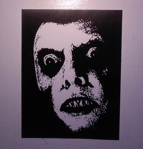 STICKER - Exorcist / Captain Howdy - vinyl HORROR movie decal 3x4 weatherproof
