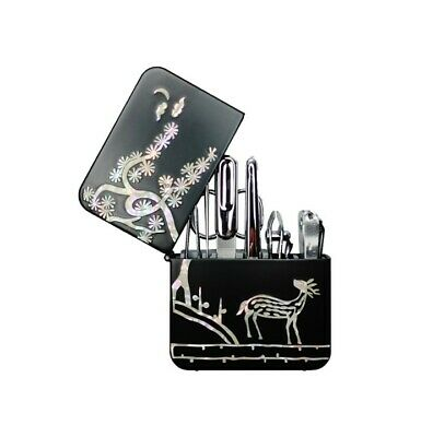 Mother Of Pearl Oriental Nacre Manicure Set Pedicure Kit Nail Clippers 7 pieces
