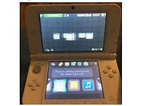 Nintendo DS XL in white with game and charger