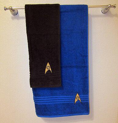 Star Trek Hand & Bath Towel set, Sciences Division