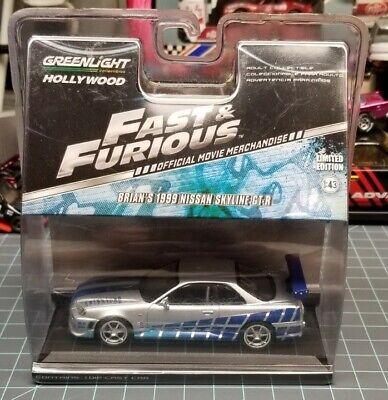 Greenlight Brian's 1999 Nissan Skyline R34 GT-R GTR Paul Walker Fast and Furious