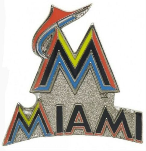 Miami Marlins Mlb Baseball Team Logo Design Sports Pin Licensed By Aminco