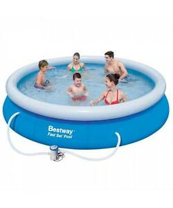Bestway Above Ground Fast Set Swimming Pool Blue Melbourne CBD Melbourne City Preview