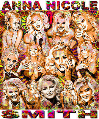 Anna Nicole Smith  Tribute T Shirt Or Print By Ed Seeman