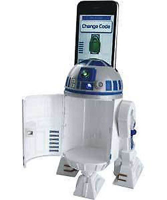 Star Wars R2-D2 R2D2 Interactive Smart Phone Safe Money Box Bank with Light SFX for sale  Shipping to United States