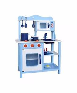 Children Wooden Kitchen Play Set Blue Melbourne CBD Melbourne City Preview