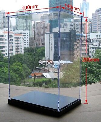 10.4x7.5x5.5 Clear Acrylic Display Case Transparent Plexiglass Dustproof Box