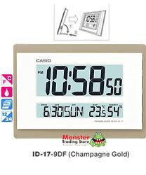 AUSSIE SELLER CASIO WALL CLOCK ID-17-9DF TEMPERATURE HUMIDITY 12 MONTH WARRANTY