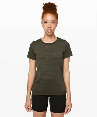 Lululemon Women's Swiftly Breeze Short Sleeve Top DKOV/FATG Dark Olive Fatigue 4