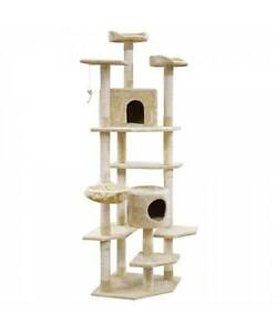 Cat Scratching Poles Post Furniture Tree House Beige Melbourne CBD Melbourne City Preview