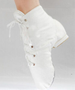 Canvas-Jazz-Ballet-Hip-hop-Boots-White
