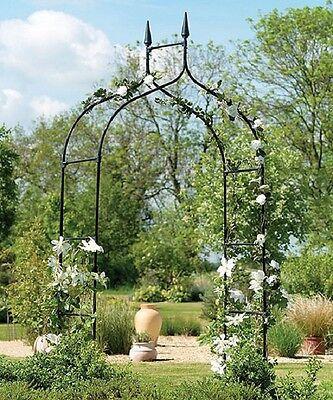- Tall Garden Archway Trellis Wedding Arbor Flower Metal Entry Backyard Patio Lawn